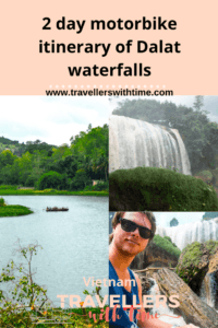 A complete 2 day self ride motorbike itinerary of Dalat waterfalls and mountainous surrounds. Explore the 4 biggest waterfalls, temples, the Clay Sculpture tunnels and more central attractions like Bao Dai's summer palace and the Crazy House #dalat #vietnam #travel #thingstodo #waterfall #motorbike
