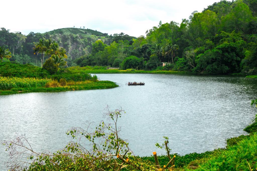 Dalat Vietnam - a beautiful lake near the Pongour waterfall