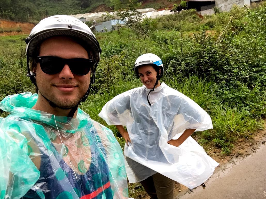 Motorbiking in the rain, DIY waterfall tour Dalat