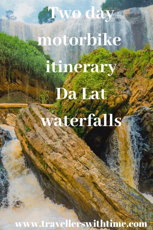 Complete itinerary for exploring Dalats four largest waterfalls, Pongour falls, Elephant falls, Prenn falls and Datanla waterfall. We also managed to squeeze in some temples, a summer palace and the famous Dalat Crazy House. All while having an amazing couple of days riding through the Dalat mountains.