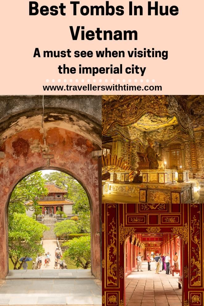 The Imperial City of Hue is a must see when visiting Vietnam, however the tombs of the past Emperors are not located in the the same area, so you have to make a special trip. Here are the tombs you want to see #vietnam #hue #travel #imperialcity #travellerswithtime