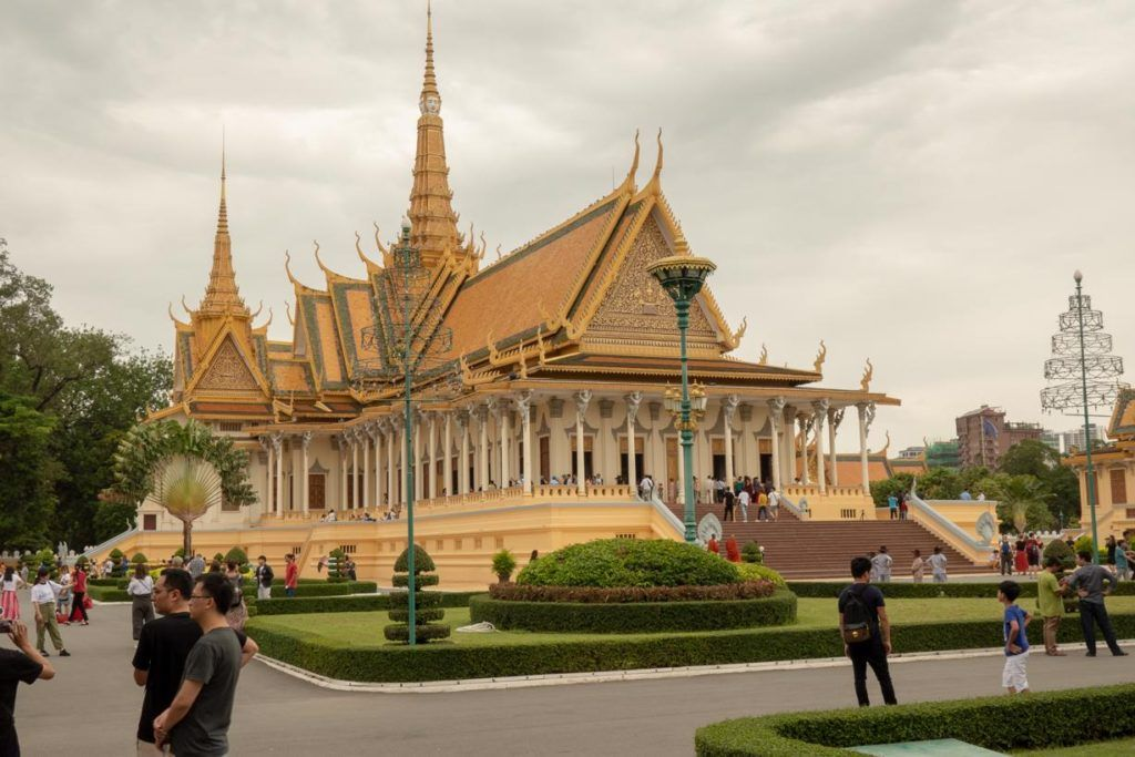 Cambodia travel tips and advice - The Royal Palace grounds in Phnom Penh