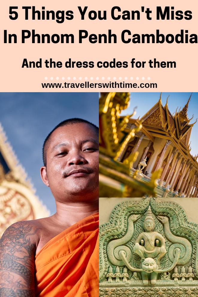 A guide to the must see things and Phnom Penh and their dress codes. #cambodia #thingstodo #killingfields #art #travel #architecture #travellerswithtime