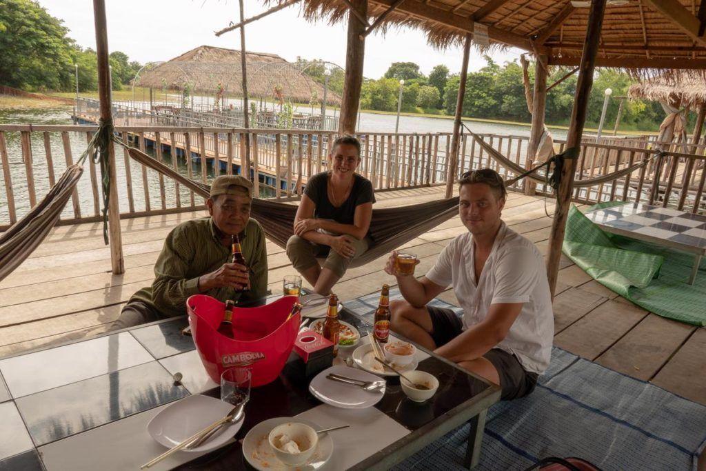 Battambang Tuk Tuk Tour Lunch with our friendly tuk tuk driver