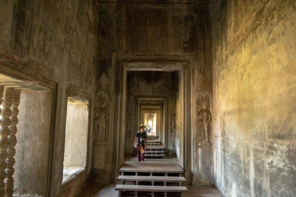 Temples of Siem Reap Passage way in Angkor Wat