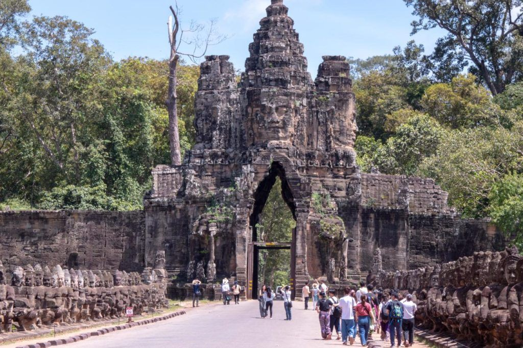 Temples of Siem Reap Decorative Gate entrance to Angkor Thom