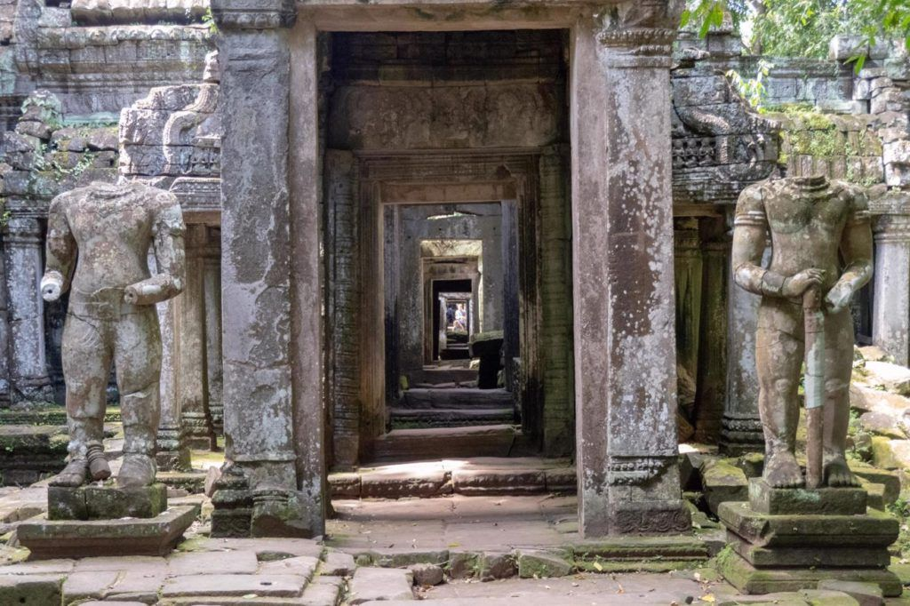 Temples of Siem Reap Preah Khan central corridor