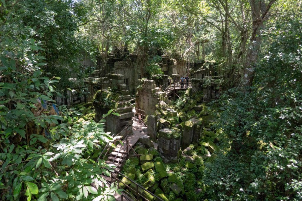 Temples of Siem Reap The wooden walkway takes you through Beng Mealea