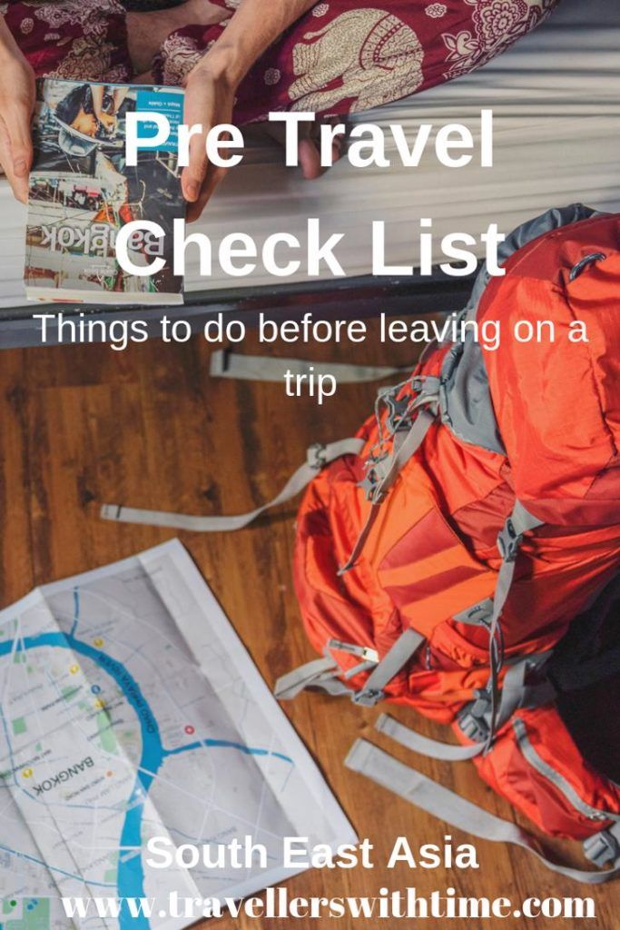 Take the stress out of preparing for a trip by following our checklist. Don't get caught out by missing a vital step when preparing to leave for a trip. We've listed all the things you want to think about, from money matters to passport issues, vaccination, travel gear and much more. #travelpreparation #travelprepchecklist #pretravelchecklistthingstodo #beforetravelchecklist
