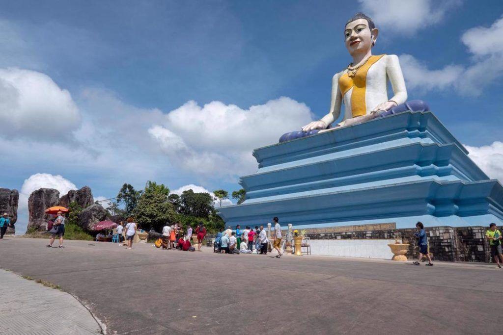 Bokor National Park Cambodia Lok Yeay Mao statue half way up Bokor Mountain, near the Black Palace