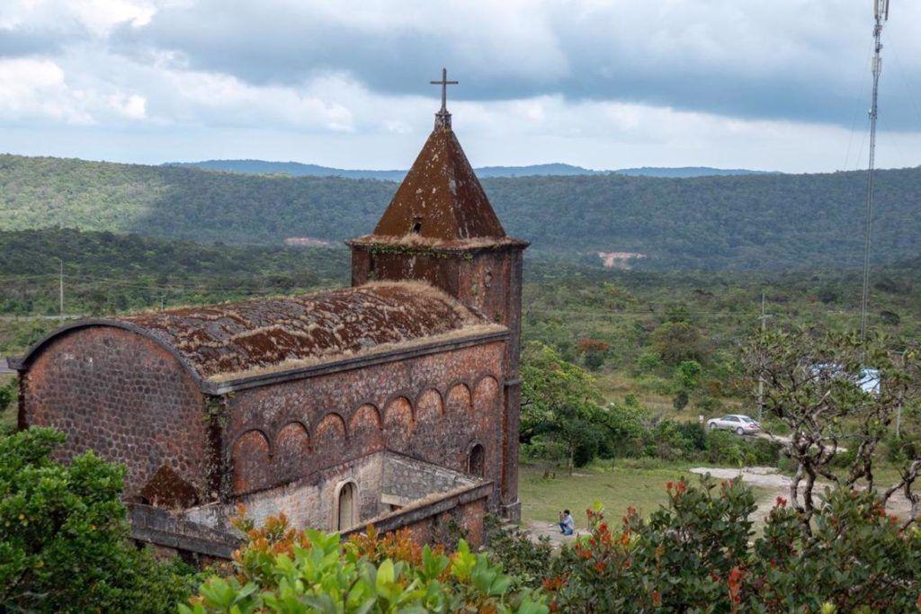 Bokor National Park Cambodia 1920's Catholic Church on Bokor Mountain