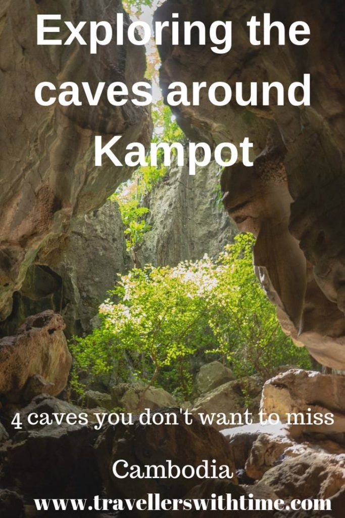 Just outside Kampot, Cambodia there are a series of limestone karst mountains that house some beautiful caves, many with historical significance. There are even cave temples. | caves | cambodia | things to do | cave temple |