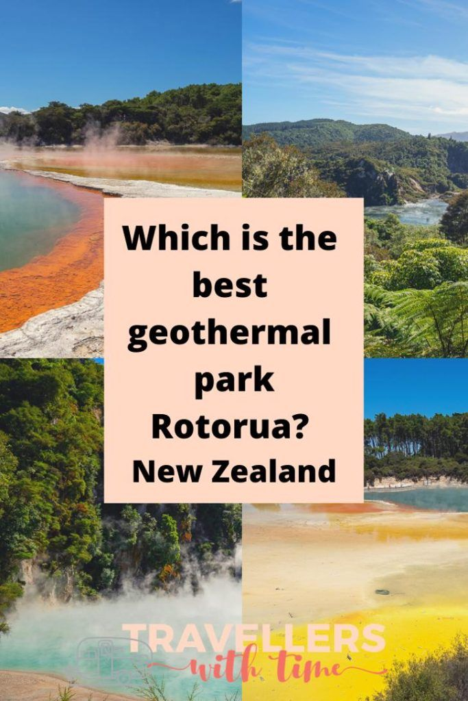 Which of Rotorua's incredible geothermal parks should you visit when in Rotorua? We've compared Waimangu, Waiotapu and Te Puia so you can choose the best park for you! You wont want to miss this great Rotorua experience. #newzealnd #rotorua #travel #waimangu #waiotapu