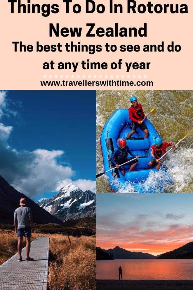 A great travel guide containing the best things to do in Rotorua at any time of year and during any weather. #newzealand #hotsprings #thingstodo #food #redwoods #winter #geothermal #travellerswithtime
