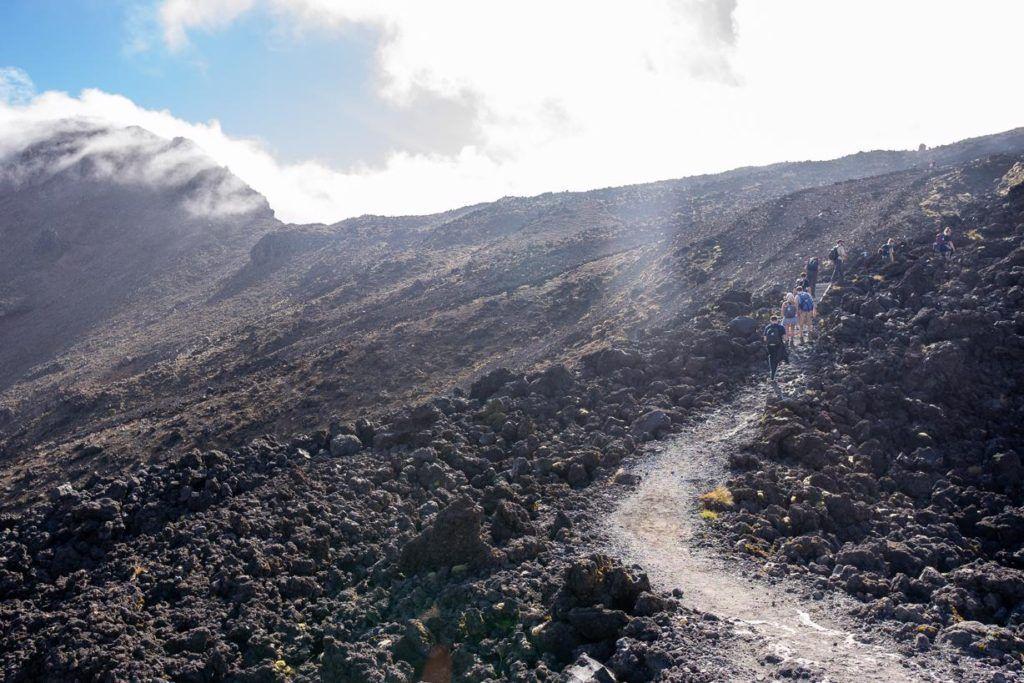 Volcanic mountain of Mount Tongariro on the Tongariro Alpine Crossing