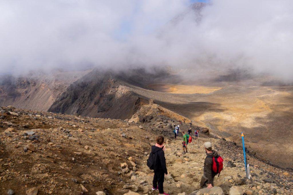 The view fron Mount Tongariro