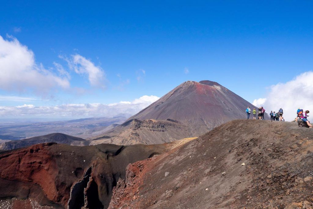 The red crater on the Tongariro Alpine Crossing New Zealand