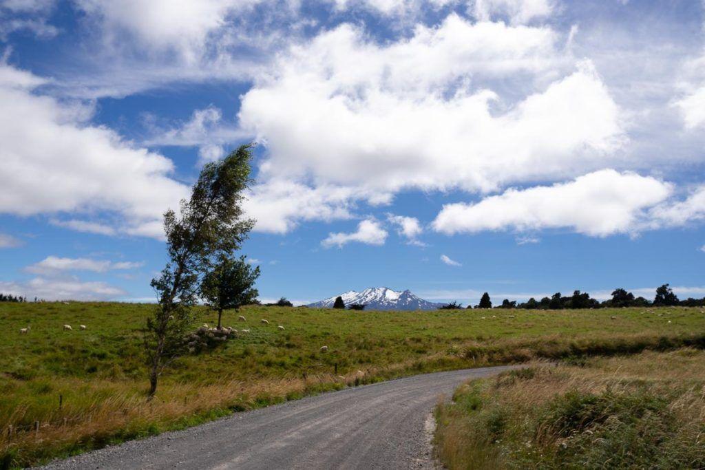 Mount Ruapehu in Tongariro National Park New Zealand