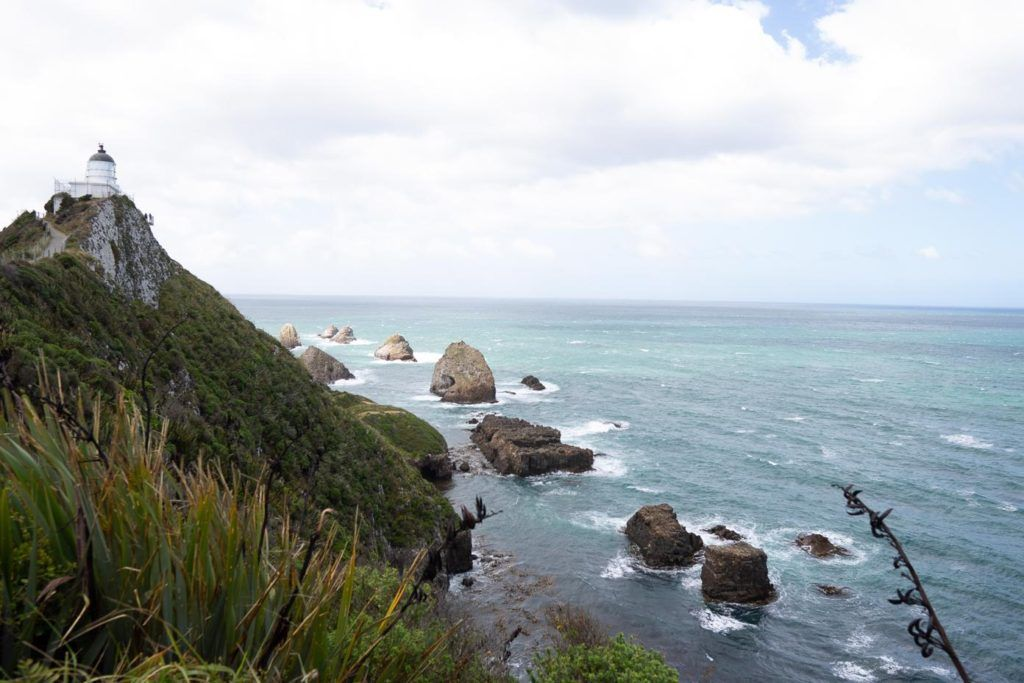 Nugget Point Lighthouse on the New Zealand South Island coast