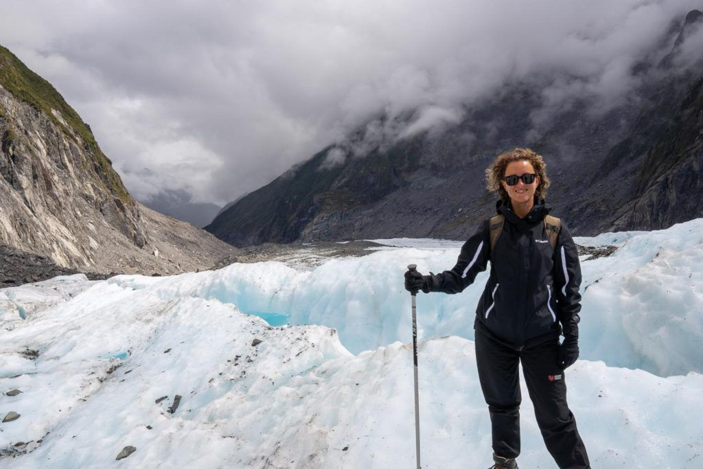 New Zealand Self Drive Itinerary South Island Fox Glacier, walking on a glacier