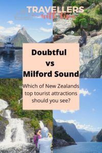 Milford Sound and Doubtful Sound are two of New Zealands top things to do. Located on the South Island in Fiordland National Park, the sounds are incredibly beautiful and a must see. But which is the best to visit? We saw both and these are our thoughts. #travel #newzealand #southisland #thingstodoin #milfordsound #mountains