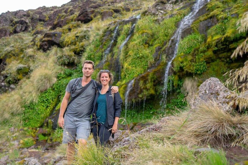 Travellers with Time at Soda Springs, Mount Tongariro